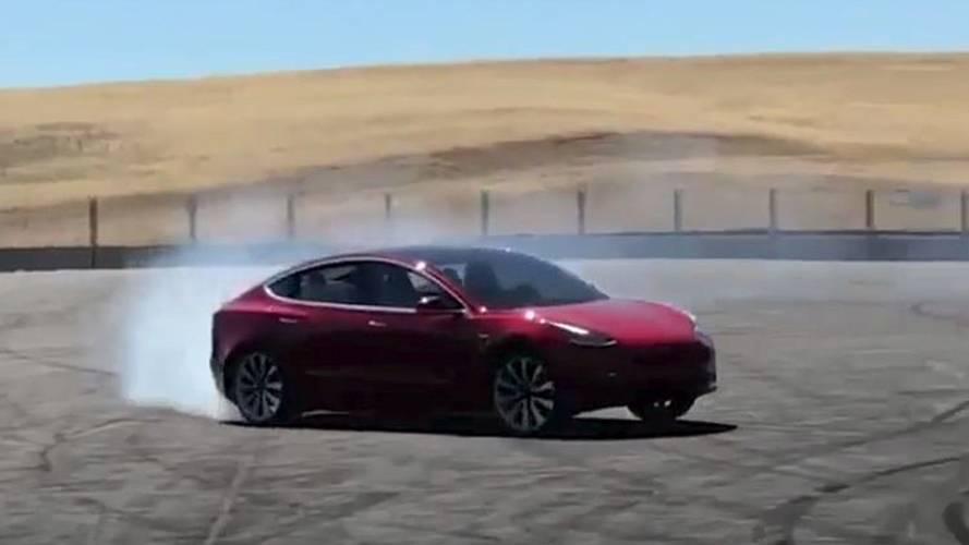 Watch Tesla Model 3 Performance Do Donuts
