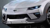 Chevrolet Camaro crossover, il rendering