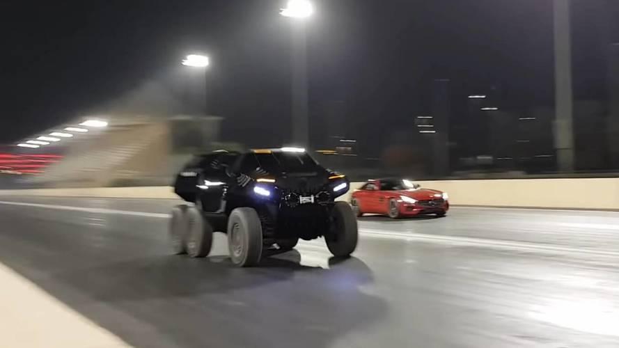 6x6 Devel Sixty, Mercedes-AMG GT S ile yarışırsa