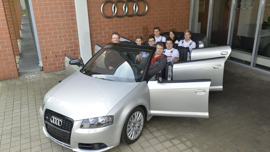 Audi Deutschland showcases A3 Cabrio with six doors