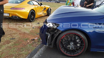 Mercedes-AMG C63 S and AMG GT S accident