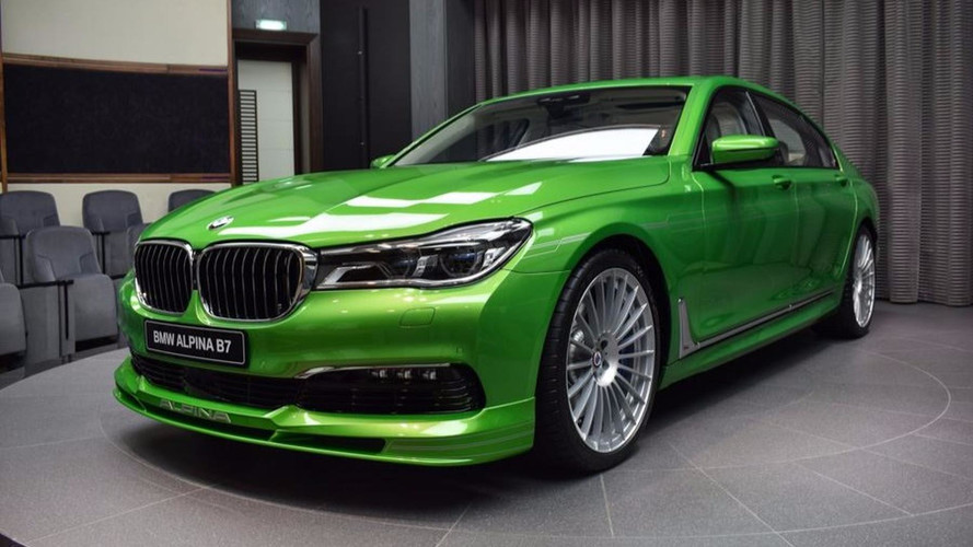 PHOTOS - L'Alpina B7 bi-turbo voit vert !