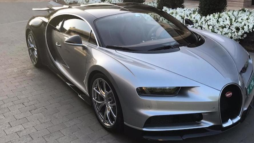Cristiano Ronaldo Spotted Driving His New Bugatti Chiron