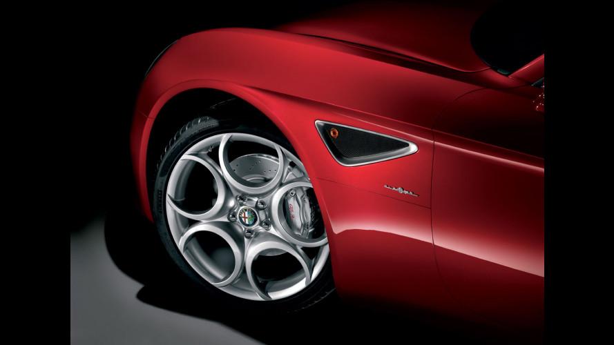 L'Alfa Romeo 8C... dentro!