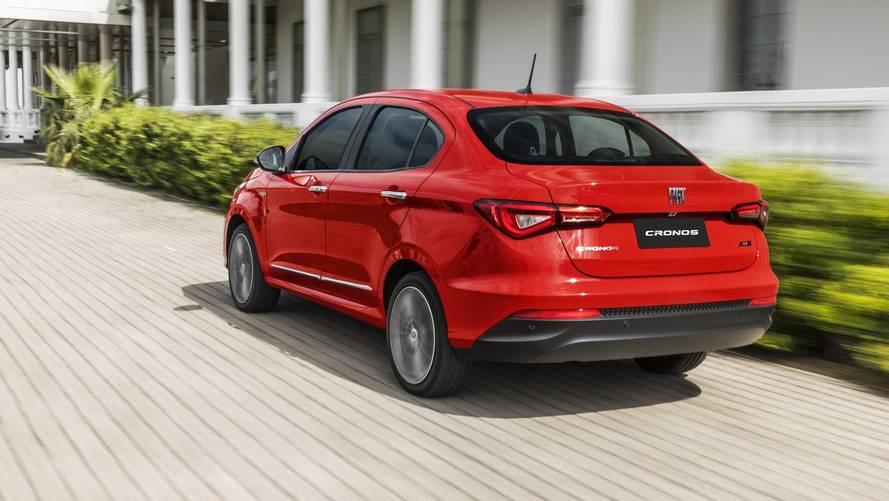 Mais vendidos na Argentina em outubro: Fiat Cronos chega ao pódio