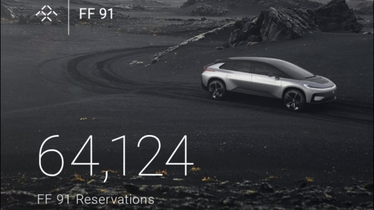 [Copertina] - Faraday Future FF 91, già raccolti oltre 64.000 ordini