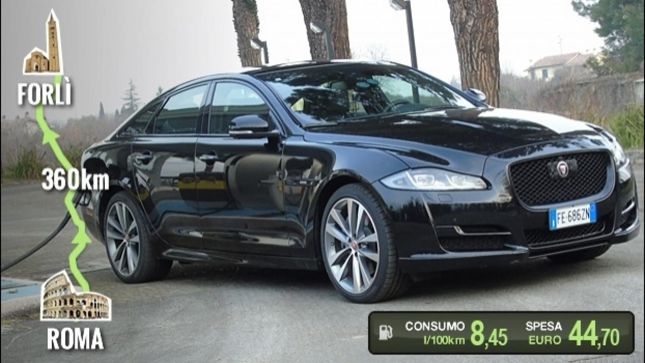 [Copertina] - Jaguar XJ 3.0 AWD, la prova dei consumi reali
