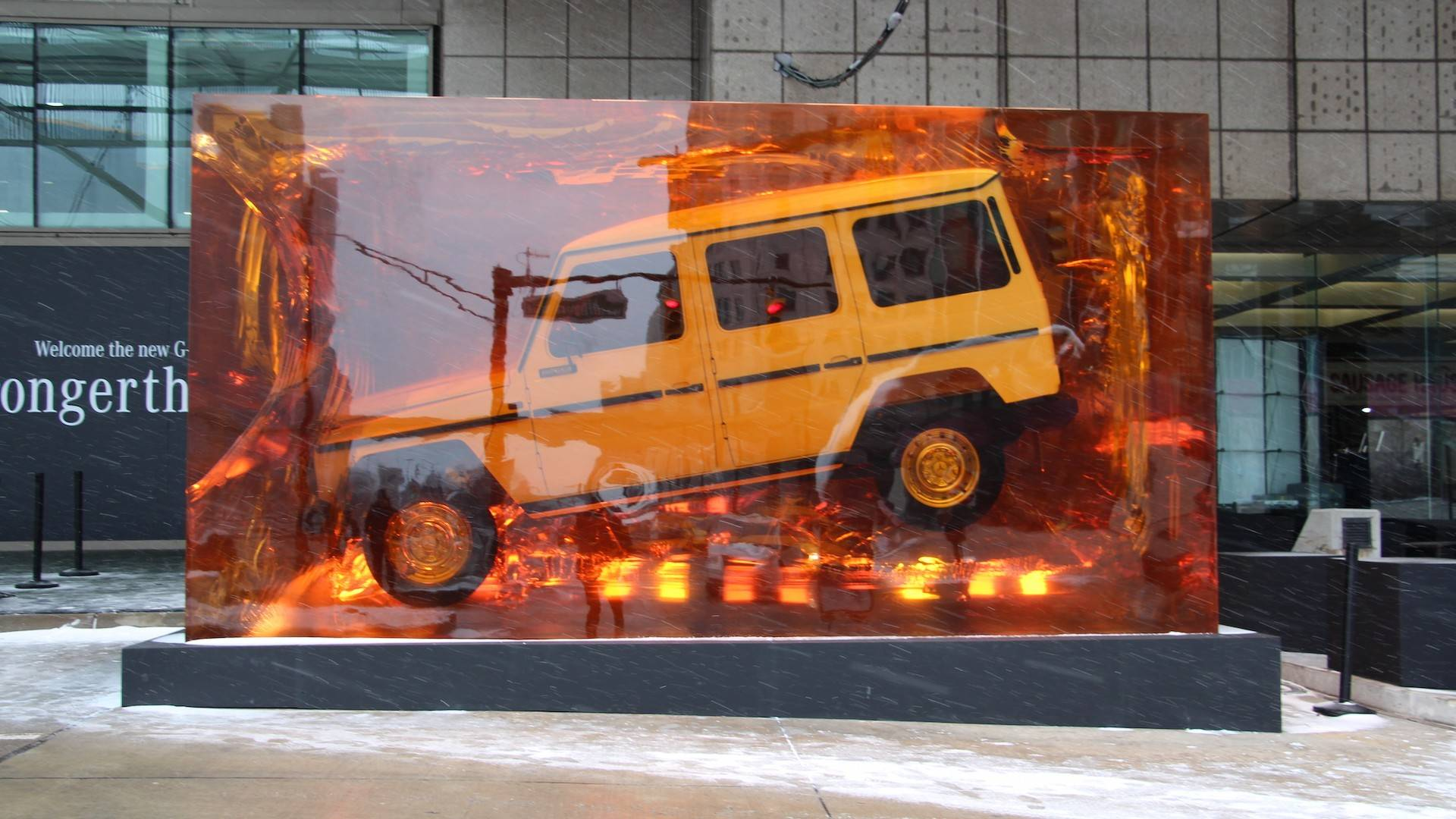 Find Out How Mercedes Encased The Original G-Class In Resin