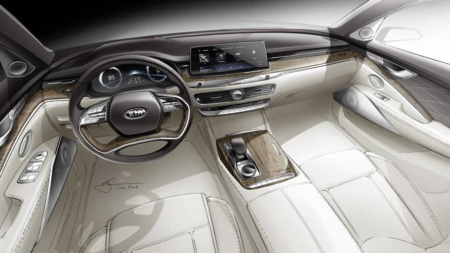 New Kia K900 Teaser Reveals High-Tech And Elegant Interior