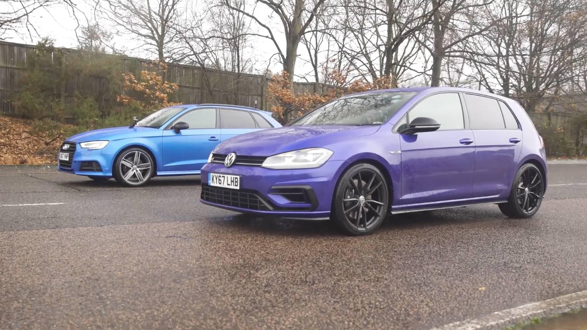 Family Feud Audi S Drag Races VW Golf R - Volkswagen audi