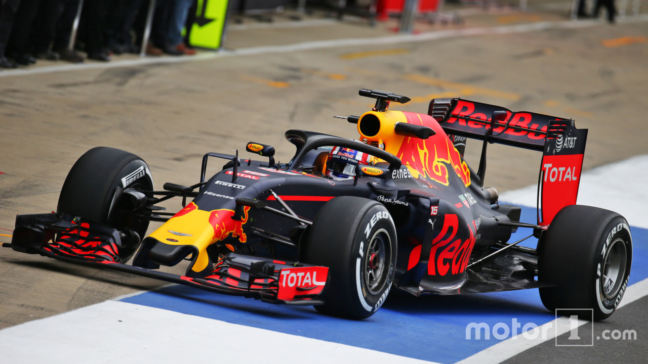 Red Bull tries out Ferrari's Halo at Silverstone test
