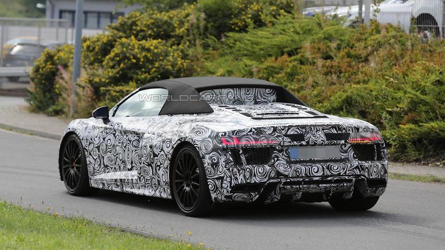 2017 Audi R8 Spyder spy photo