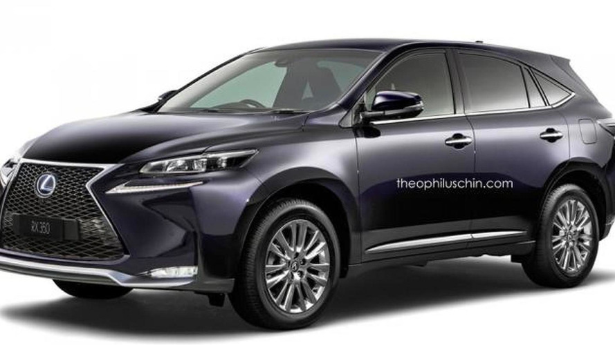 2016 Lexus RX render shows possible design