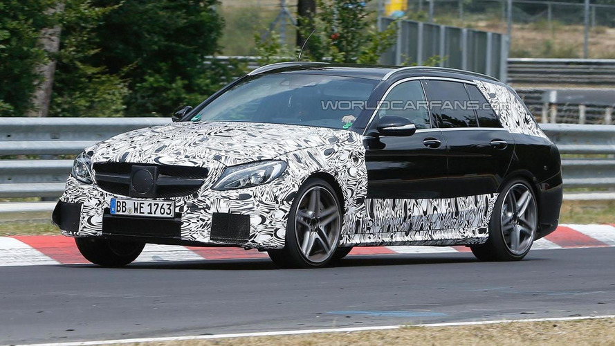 2015 Mercedes C63 AMG Estate spied on the Nurburgring