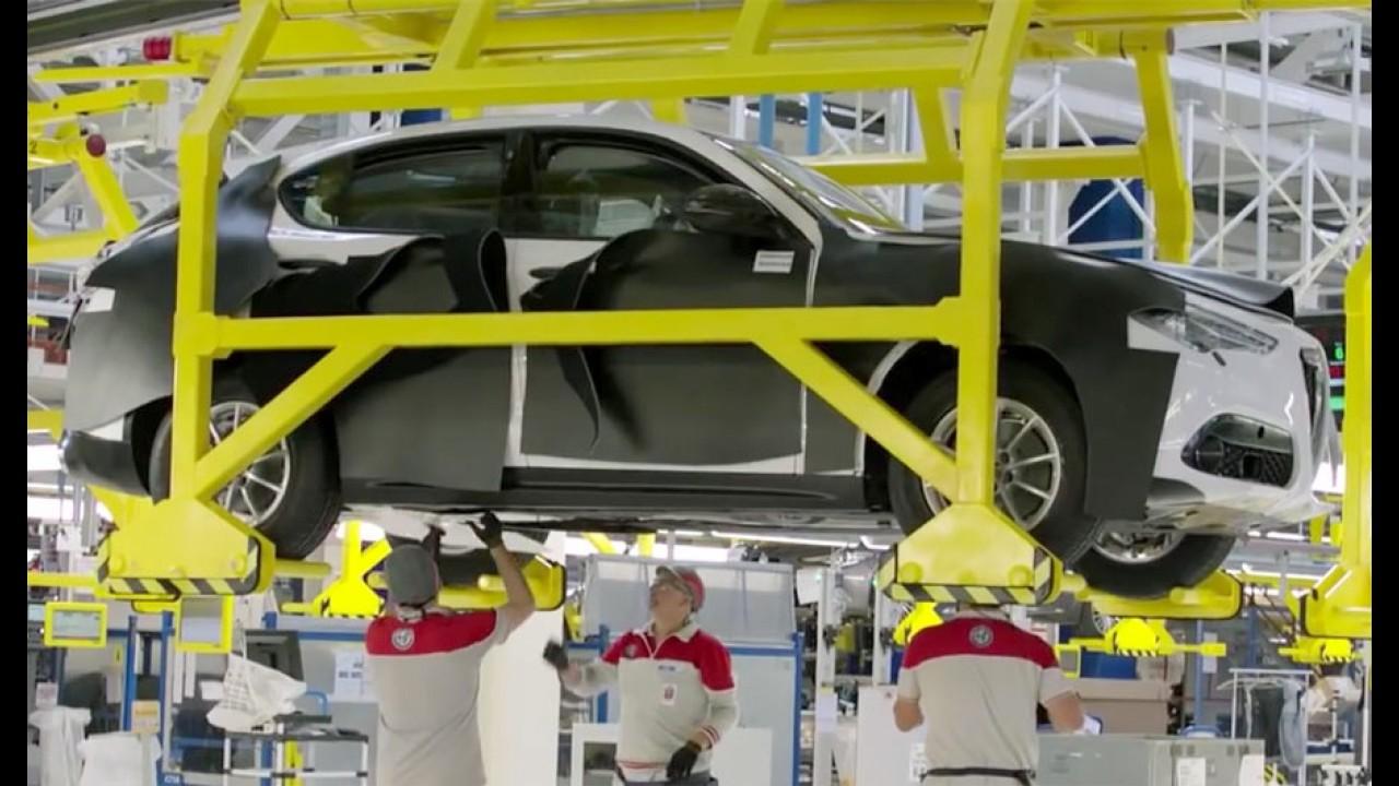 Alfa Romeo Stelvio: vídeo da fábrica mostra o inédito SUV