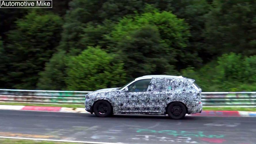 Vidéo espion - La BMW X3 2017 en cours d'essais sur le Nürburgring