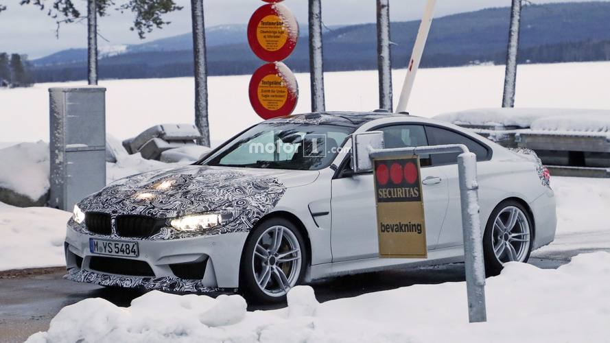 2018 BMW M4 CS spy photos
