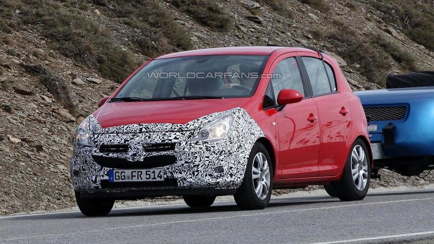 2014 Opel Corsa facelift spied once more