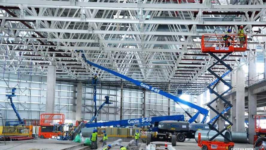 Tesla Gigafactory 3 Interior Progress Revealed