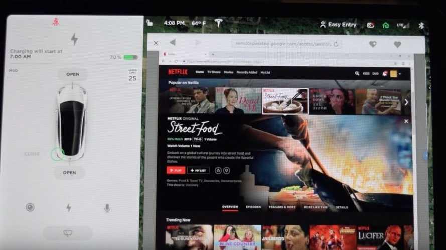 Netflix et YouTube seront bientôt accessibles à bord des Tesla