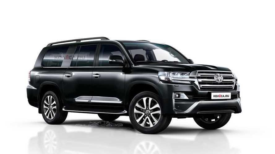 Toyota Land Cruiser Stretches Out In Long-Wheelbase Rendering