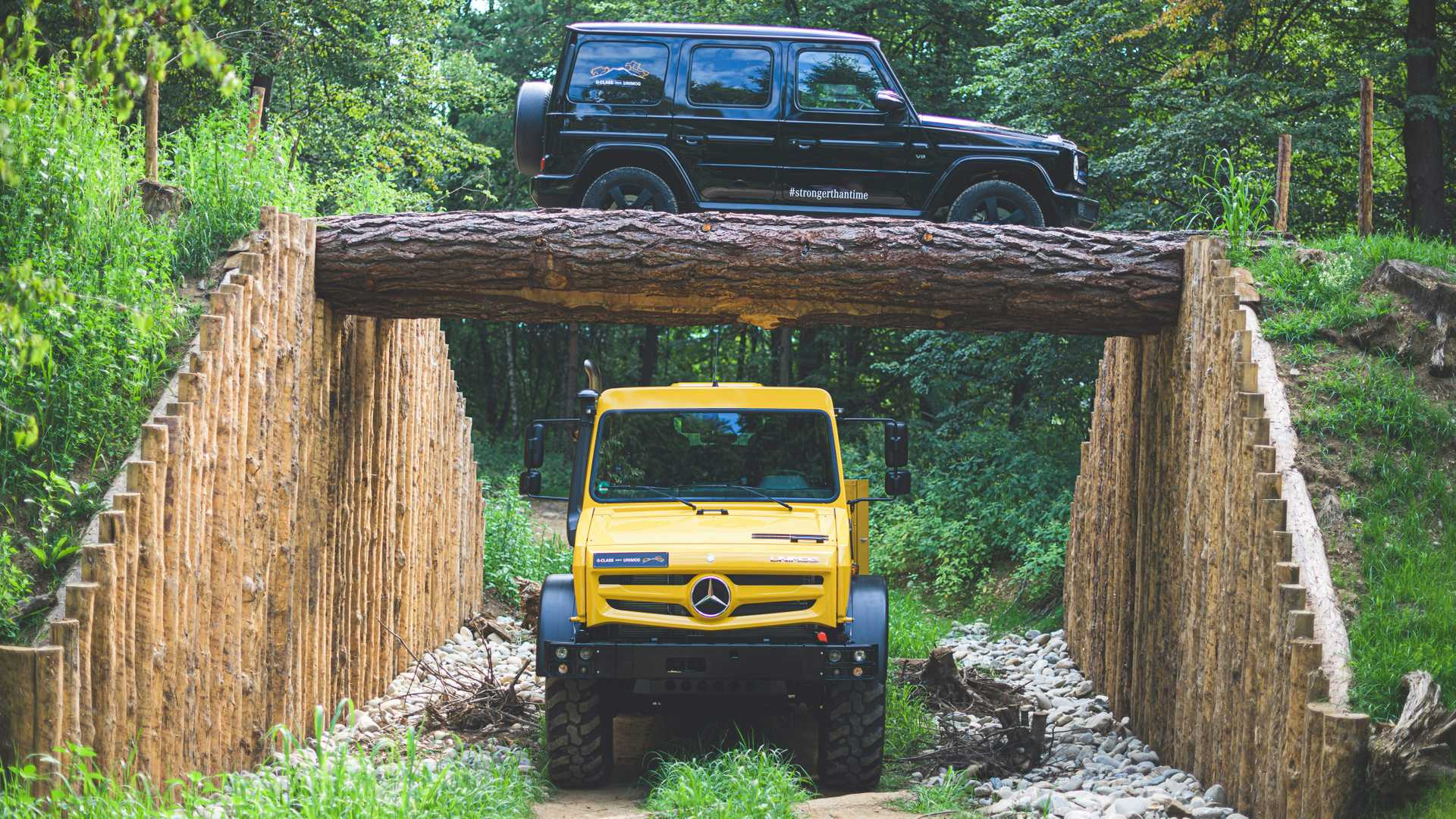 See Mercedes Unimog And G-Class Demonstrate Their Off-Road Chops