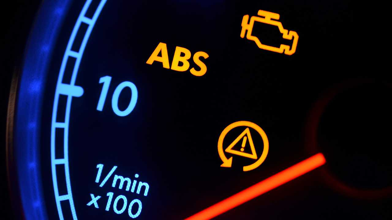 Car instrument cluster warning lights
