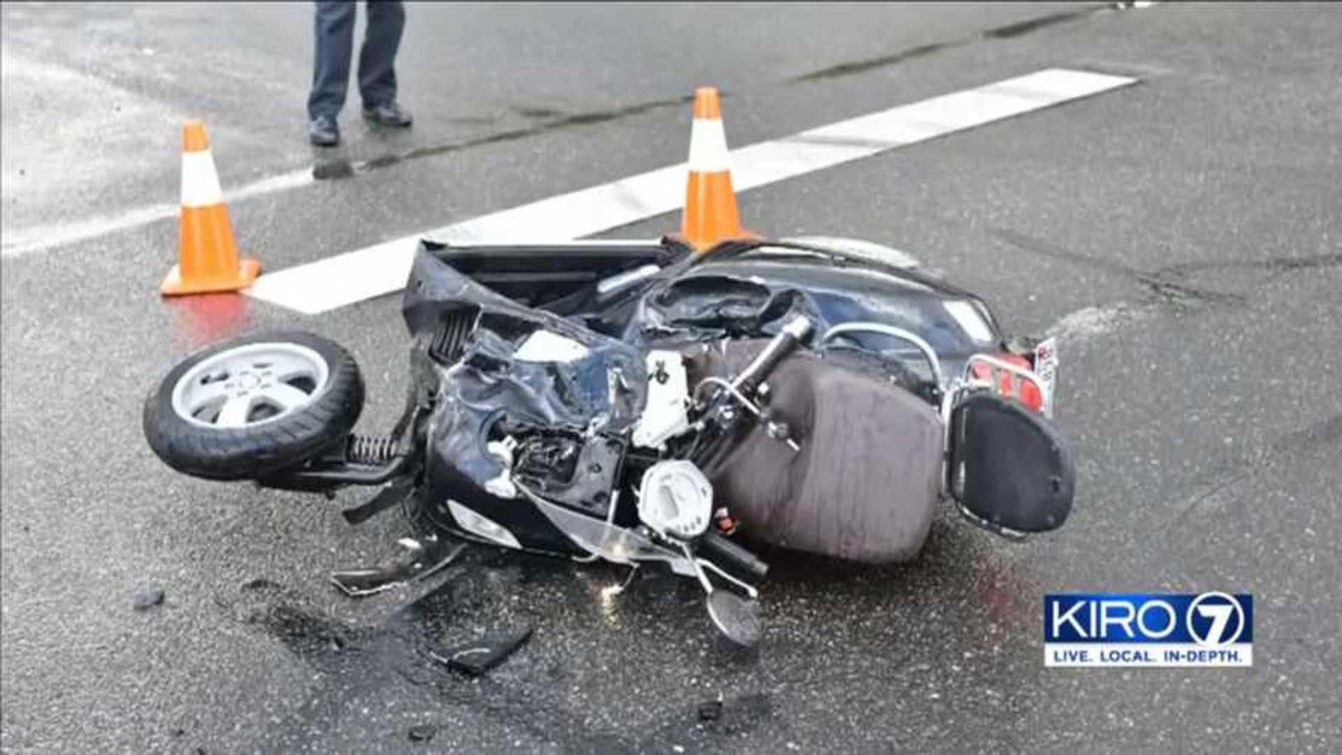Tacoma Police Seeking Driver Who Caused Massive Vespa Crash
