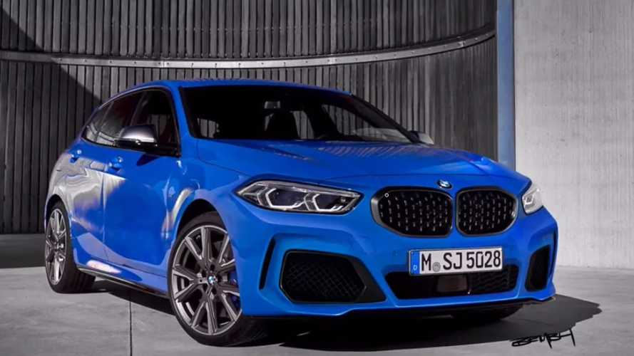 2020 BMW 1 Series M135i Photoshop Redesign Dials Down The Grille