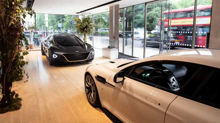Aston Martin Lagonda Vision Concept and Rapide E in London showroom