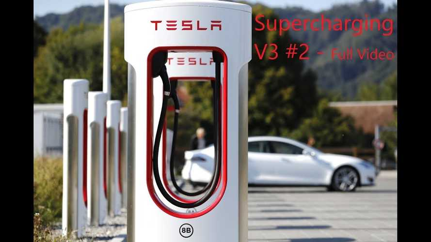Tesla Model 3 LR Tested At The 250 kW V3 Supercharger: Video