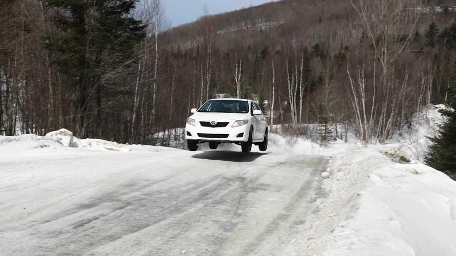 Watch Toyota Corolla Get Sideways and Vertical