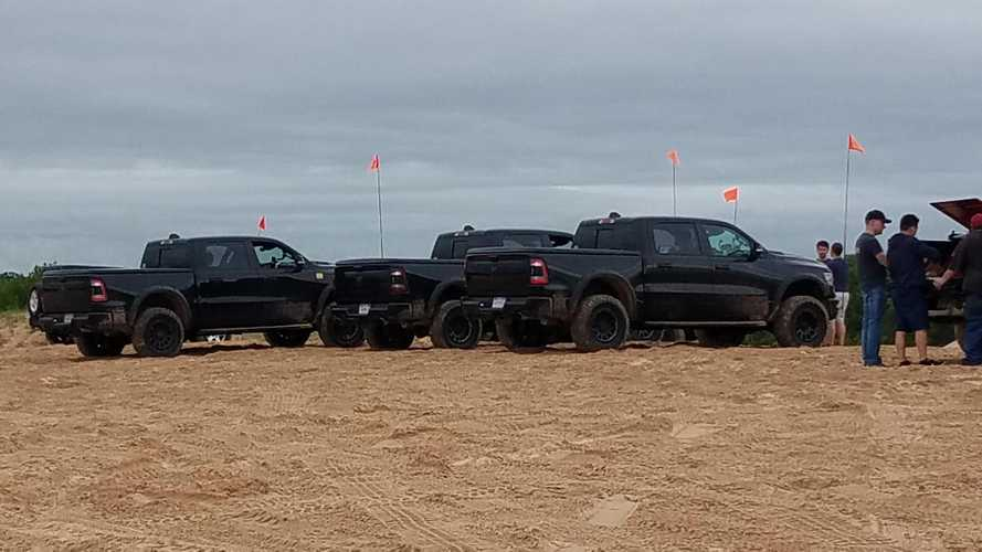 Hellcat-Powered Ram 1500 Rebel TRX Spied Playing In The Sand