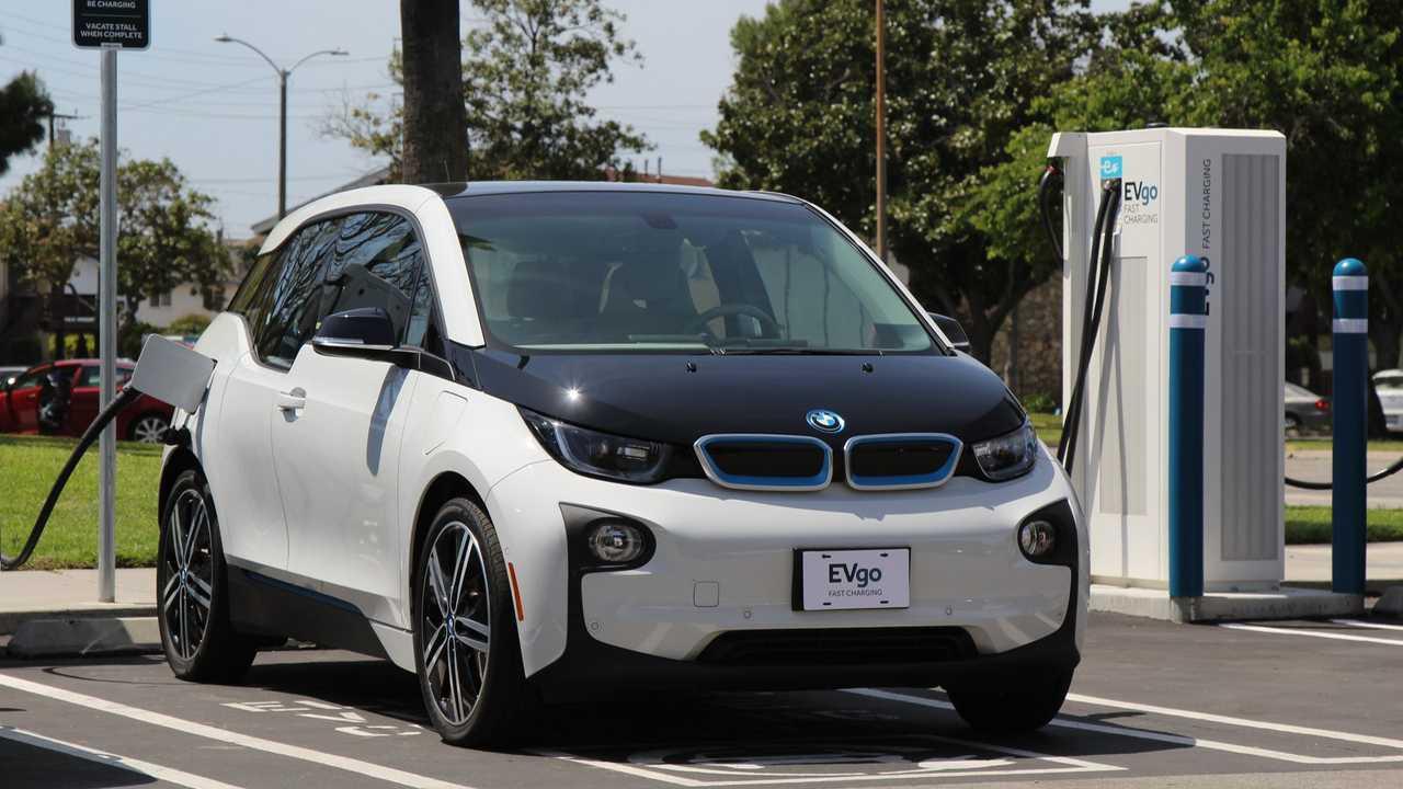 BMW i3 at EVgo fast charging station