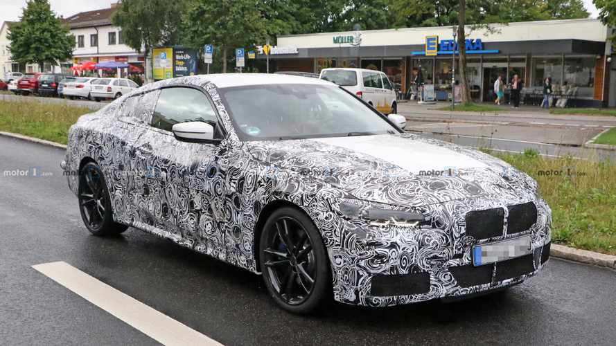 BMW 4 Series Coupe spied in motion on Munich streets
