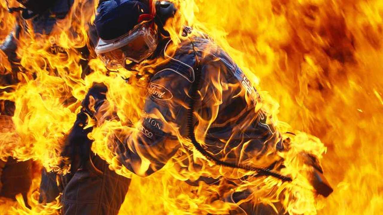 L'incendio di Jos Verstappen