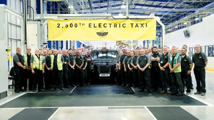 LEVC celebrates production of the 2500th TX Electric Taxi