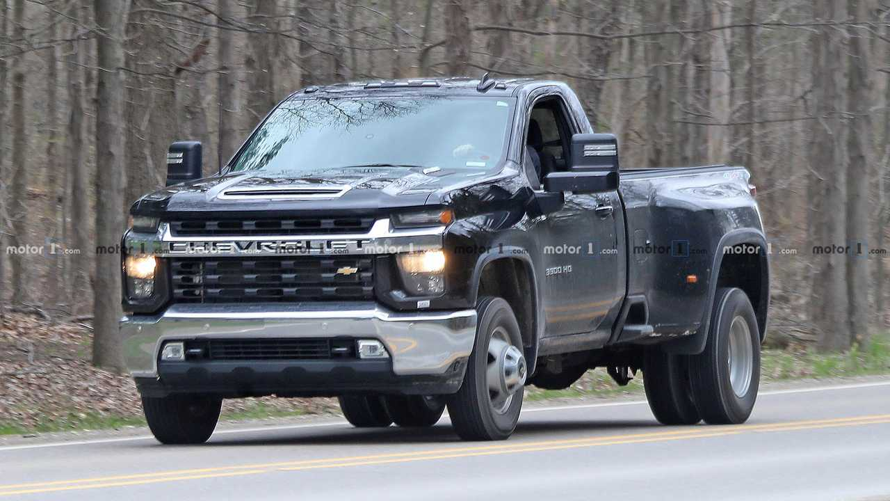 2020 Chevy Silverado HD Single Cab Dually Spied Fully ...