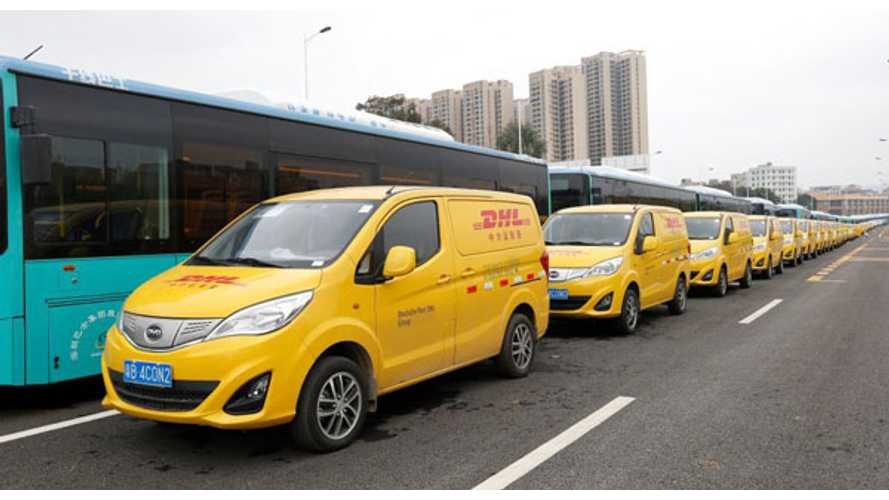 BYD Delivers All-Electric T3 Vans To DHL In China