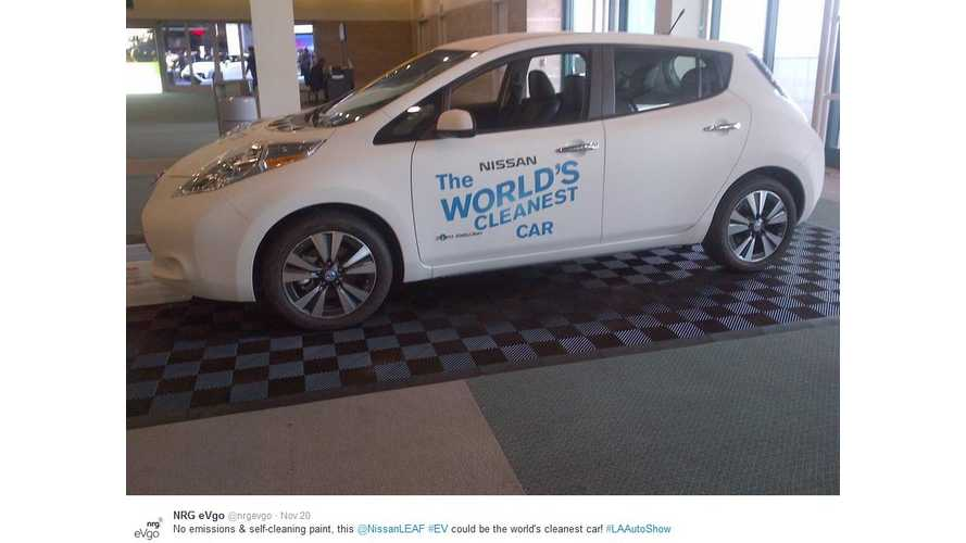 World's Cleanest Car Debuts At LA Auto Show