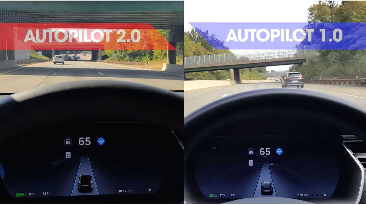Tesla Autopilot 1.0 Compared To 2.0 - Video