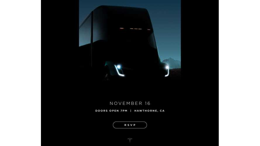 Tesla Releases New Semi Teaser, Sends Out Reveal Invites