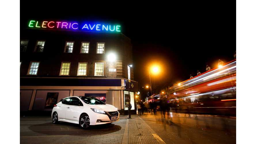 New 2018 Nissan LEAF Charges Up Electric Avenue