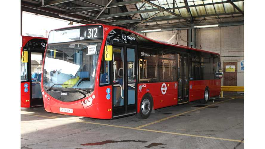 London's First All Electric Bus Route To Be Operated By Arriva London (w/video)
