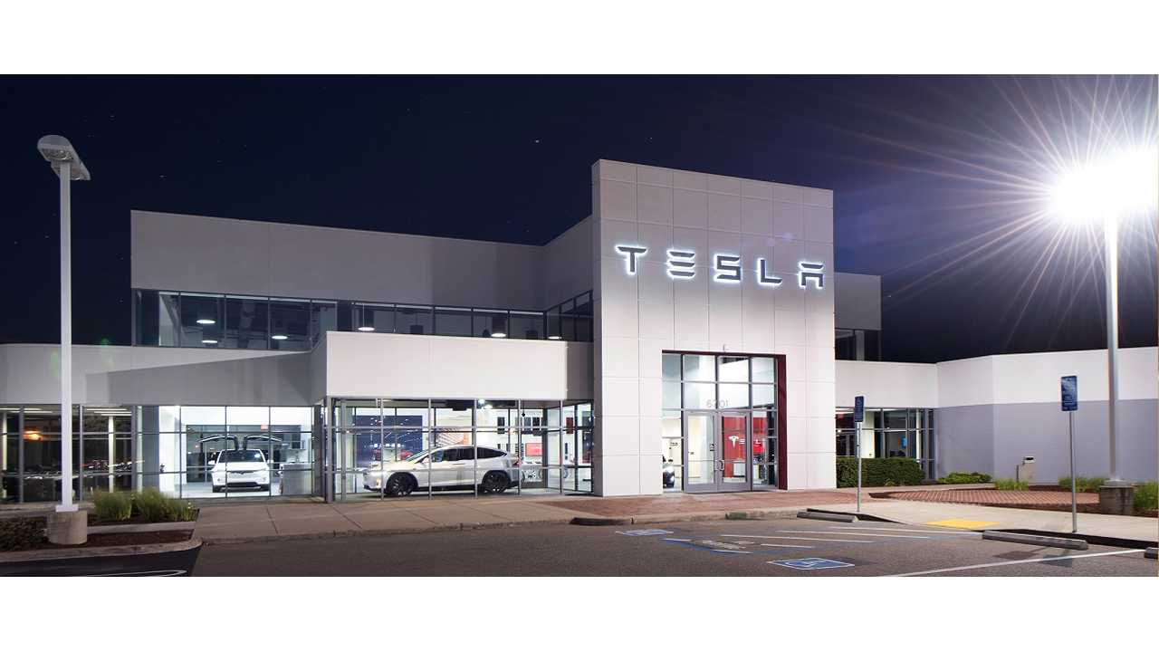 Tesla Store/Service Centers (like this one in Dublin, California) may need to be greatly expanded, or companion facilities built to accomodate future Model 3 sales