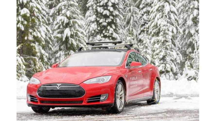 Tesla Model S Range In Sub-Zero, Snowy Weather