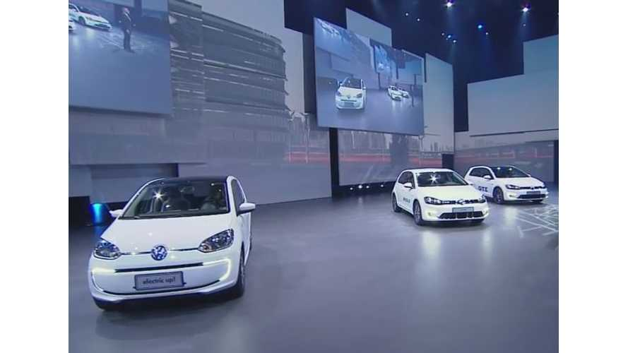 Volkswagen Floods The Shanghai Auto Show Stage With Plug-In Electric Cars - Video