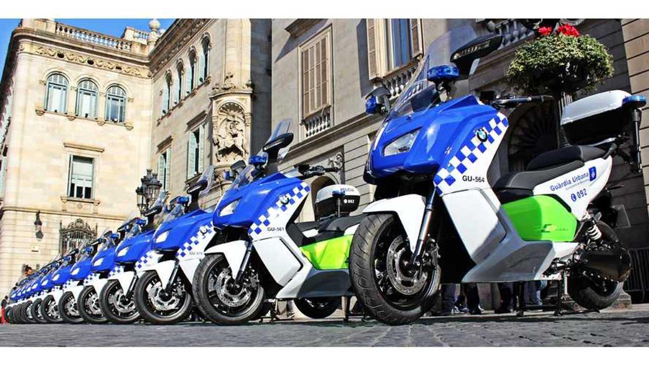 Barcelona Police Get Fleet Of BMW C Evolution Electric Scooters