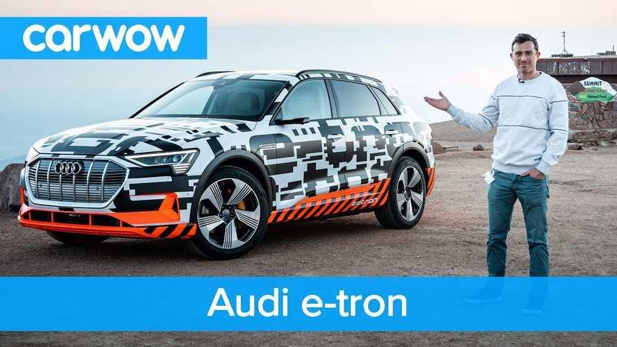 Watch As Audi E-Tron Gains Energy Downhill