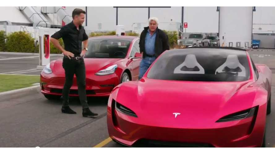 Jay Leno Talks New Tesla Roadster With Franz Von Holzhausen